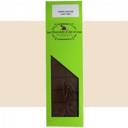 Tablette de chocolat au lait sans sucre
