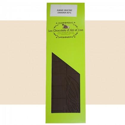 Tablette de chocolat du Ghana sans sucre