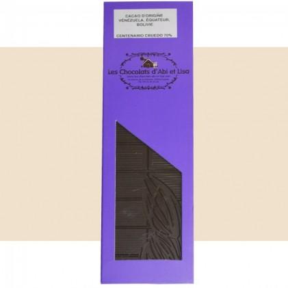 Tablette chocolat Centenario Cruedo 70%